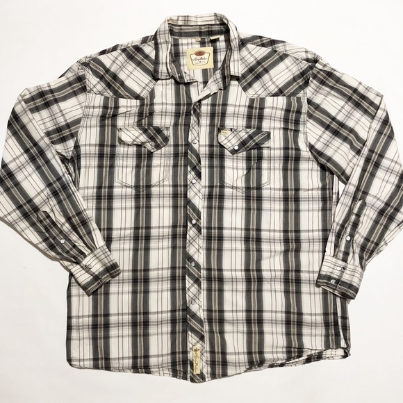 7ac05b96 Larry Mahan Other - Larry Mahan Shirt Western Pearl Snap Cowboy Plaid